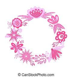 floral pink wreath