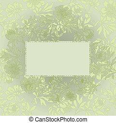 floral, pistache, achtergrond