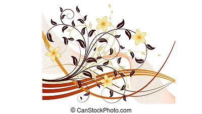 floral, plano de fondo