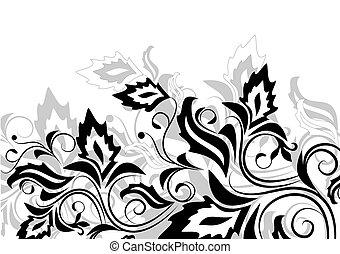 floral, plano de fondo, con, decorativo, b