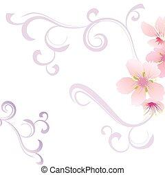 floral, plano de fondo, con, flor