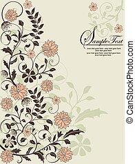 floral, plano de fondo, con, lugar, para, su, texto