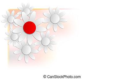 floral, plano de fondo, en, esquina