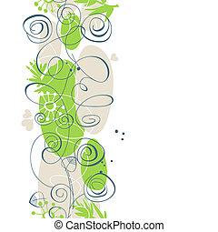 floral, plano de fondo, seamless, patrón, encima, blanco