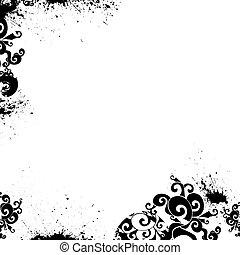 floral, plano de fondo, vector