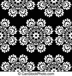 floral, polaco, seamless, gente, patrón