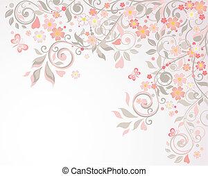 floral, postal, saludo
