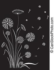 floral postcard. Vector background