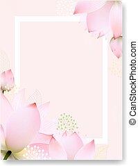 floral, postkaart