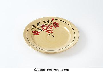 floral, prato, bege, padrão