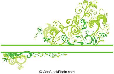 floral, primavera, desenho