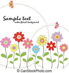 floral, primavera, verão, coloridos, butte