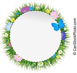 floral, printemps, affiche