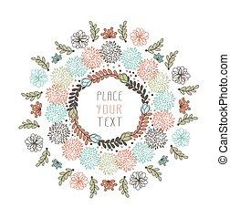floral, projeto abstrato
