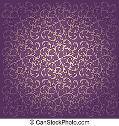 Floral purple baroque background