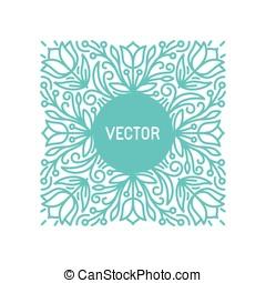 floral, quadro, vetorial, espaço cópia