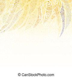 floral, résumé, arrière-plan beige