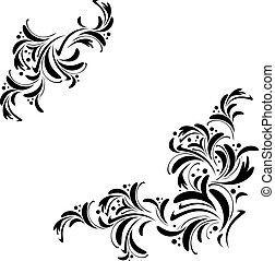 floral, résumé, cadre