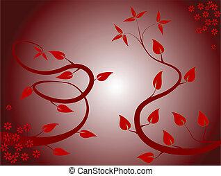 floral, résumé, fond, ilustration