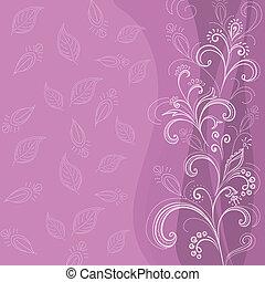floral, résumé, fond, lilas