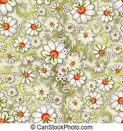 floral, résumé, ornement, seamless
