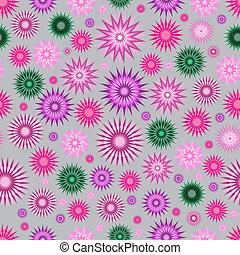 floral, résumé, seamless, fond