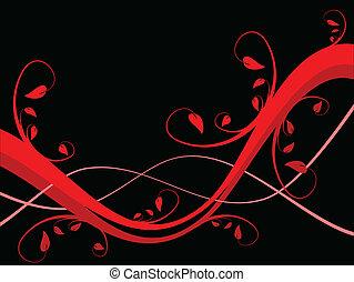floral, résumé, sytylized, fond, illustration
