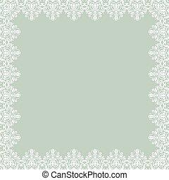 floral, résumé, vecteur, pattern., cadre