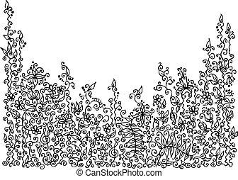 floral, raffiné, viii, vignette