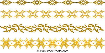 floral rand, goud