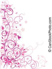 floral rand, groet