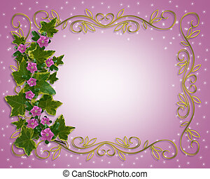 floral rand, klimop, element