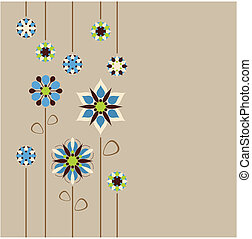 floral rand, seamless, retro