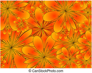 floral, raster., plano de fondo