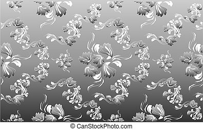 floral, real, ornamento