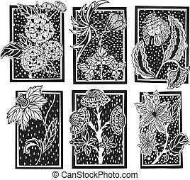 Floral rectangle patterns