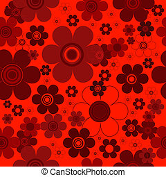 Floral red seamless background