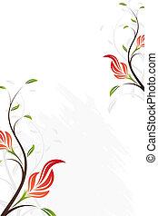 floral, remolino