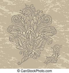 floral, renaissance, style, concevoir élément