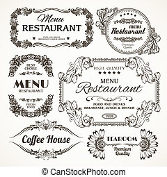 Floral restaurant labels