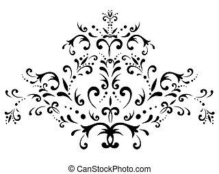 floral, resumen, decoración