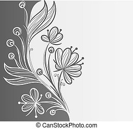 floral, resumen, o, plano de fondo, plantilla