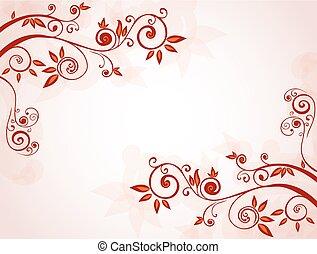 floral, resumen, plano de fondo