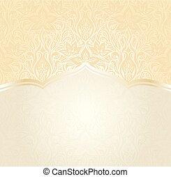 Floral Retro wedding pale peach background mandala design