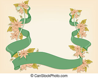 Floral Ribbon Background