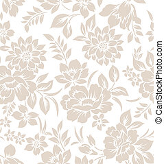 floral, rideau, conception, seamless