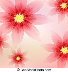 floral, romantique, fond