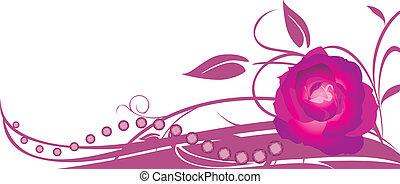 floral, roos, spandoek