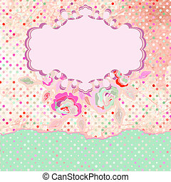 Floral Rose Pattern and polka dot. EPS 8
