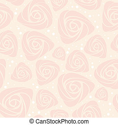 floral, rose, vecteur, seamless, fond